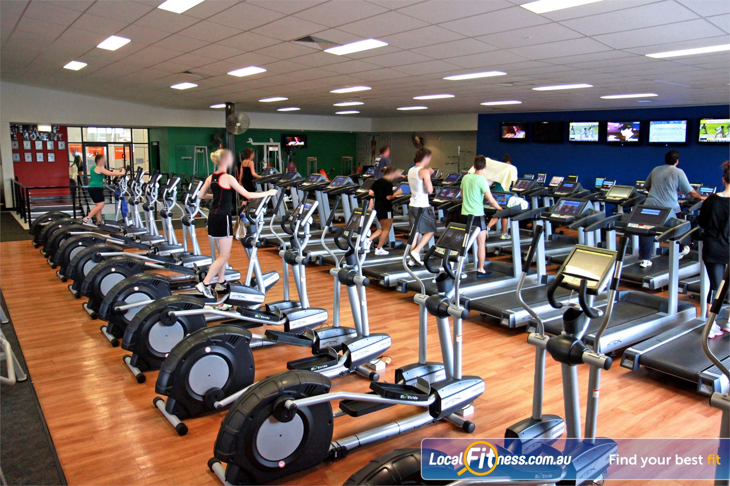 Goodlife Health Clubs Holland Park Multiple machines to reduce wait times.
