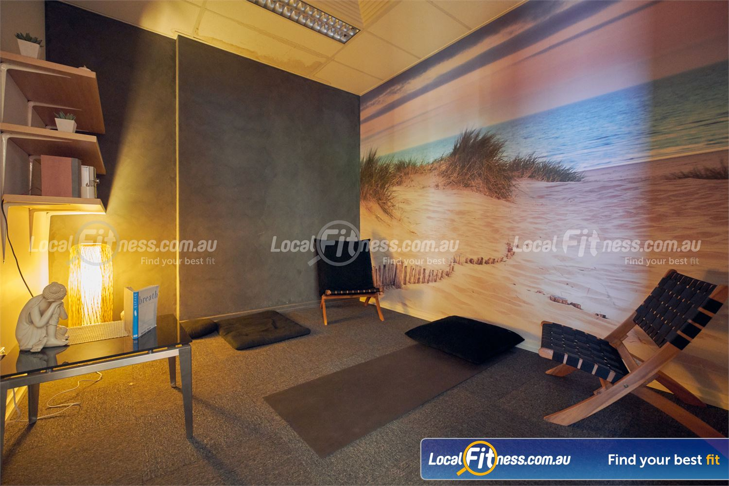 Fernwood Fitness Near Elwood Our tranquil meditation room will help you recenter your day.