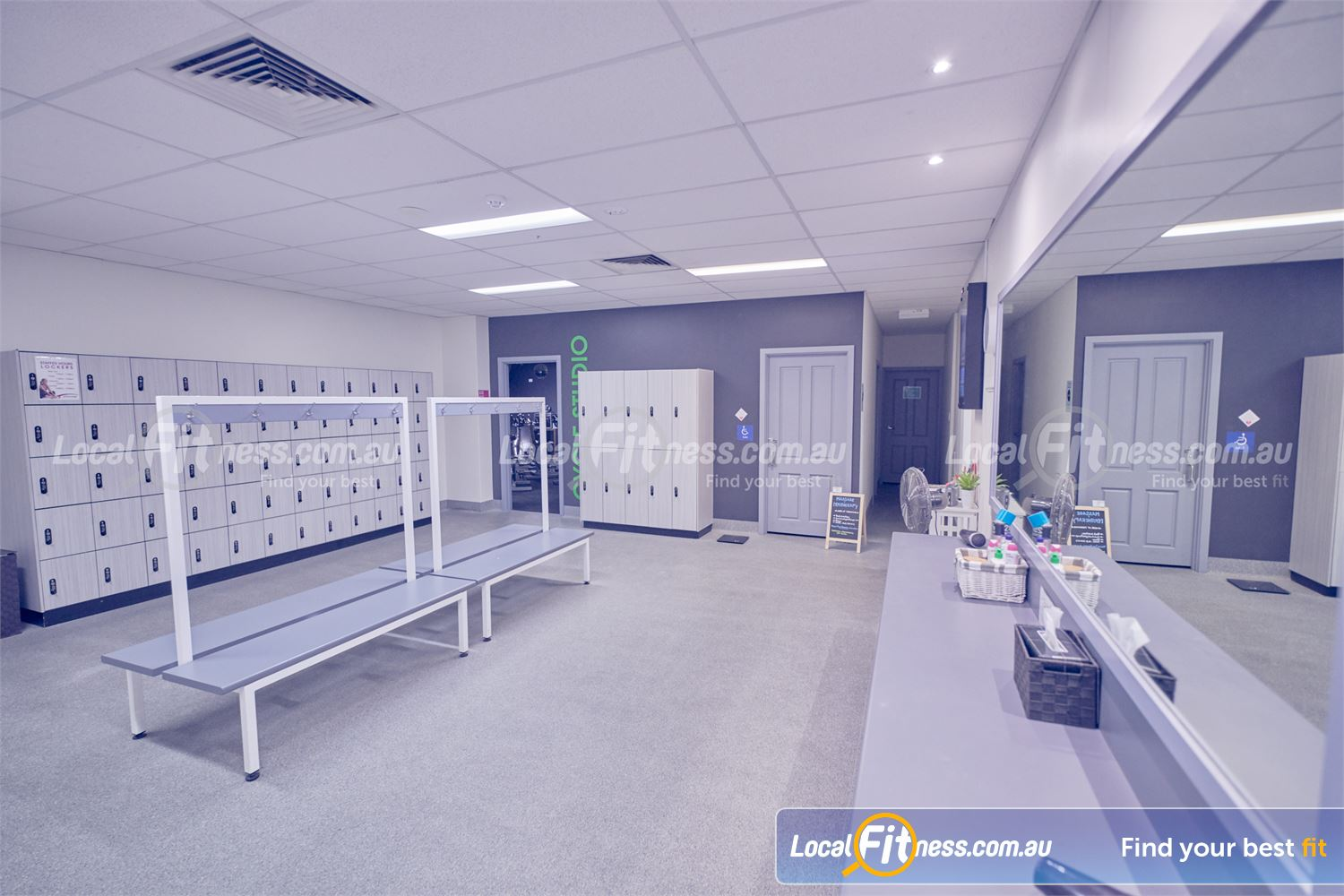 Fernwood Fitness St Kilda Beautifully appointed change room facilities.