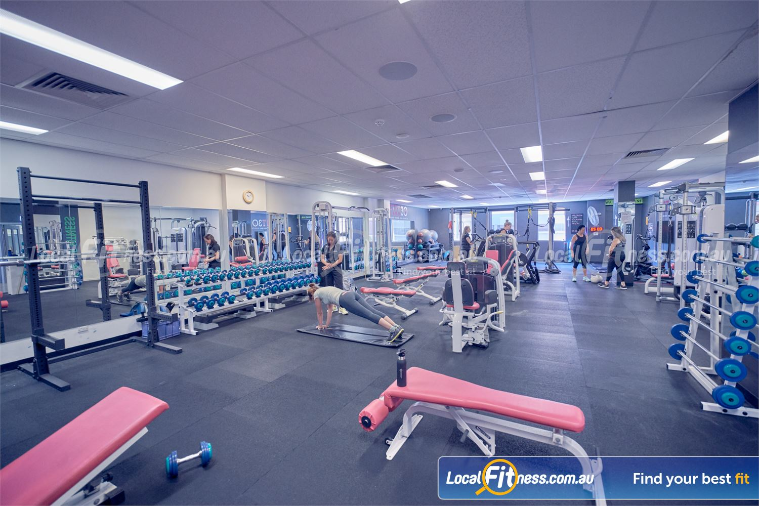 Fernwood Fitness St Kilda Fernwood St Kilda Women's gym provides a fully equipped free-weights area.