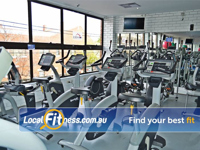 Solstice Health & Fitness Gym Glen Waverley  | Our bright, airy and spacious Oakleigh gym space.