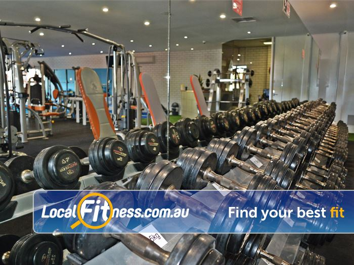 Solstice Health & Fitness Oakleigh A full range of dumbbells up to 50kg.
