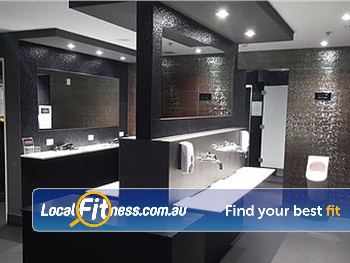 Your World Fitness Adelaide Beautifully appointed change room facilities at Your World Fitness.