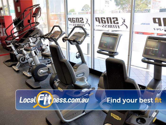 Snap Fitness Gym East Victoria Park  | The cardio area at Snap Fitness Redcliffe gym.