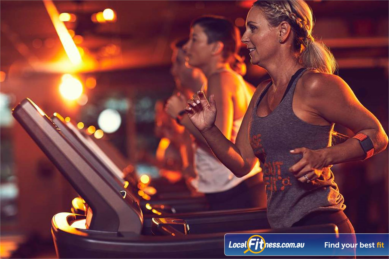 Orangetheory Fitness South Yarra Our signature Orange lighting provides an energetic workout atmosphere.
