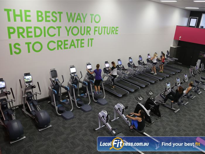 Fernwood Fitness Gym Shepparton  | Comprehensive cardio selection with treadmills, cross trainers, rowers