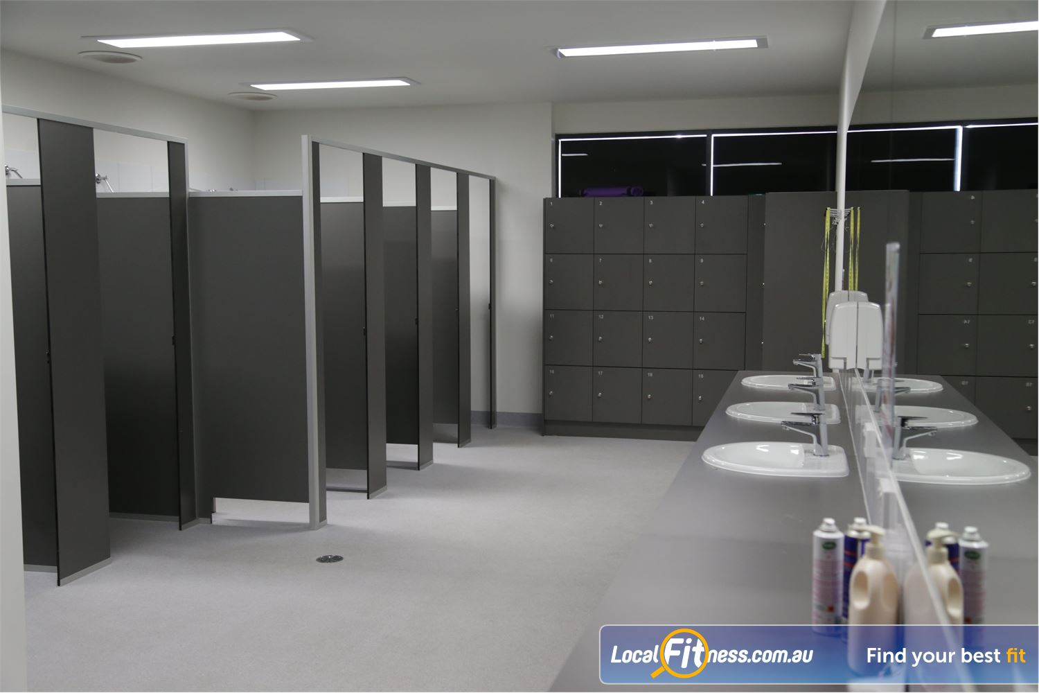 Fernwood Fitness Shepparton The new and pristine beautifully appointed change rooms.