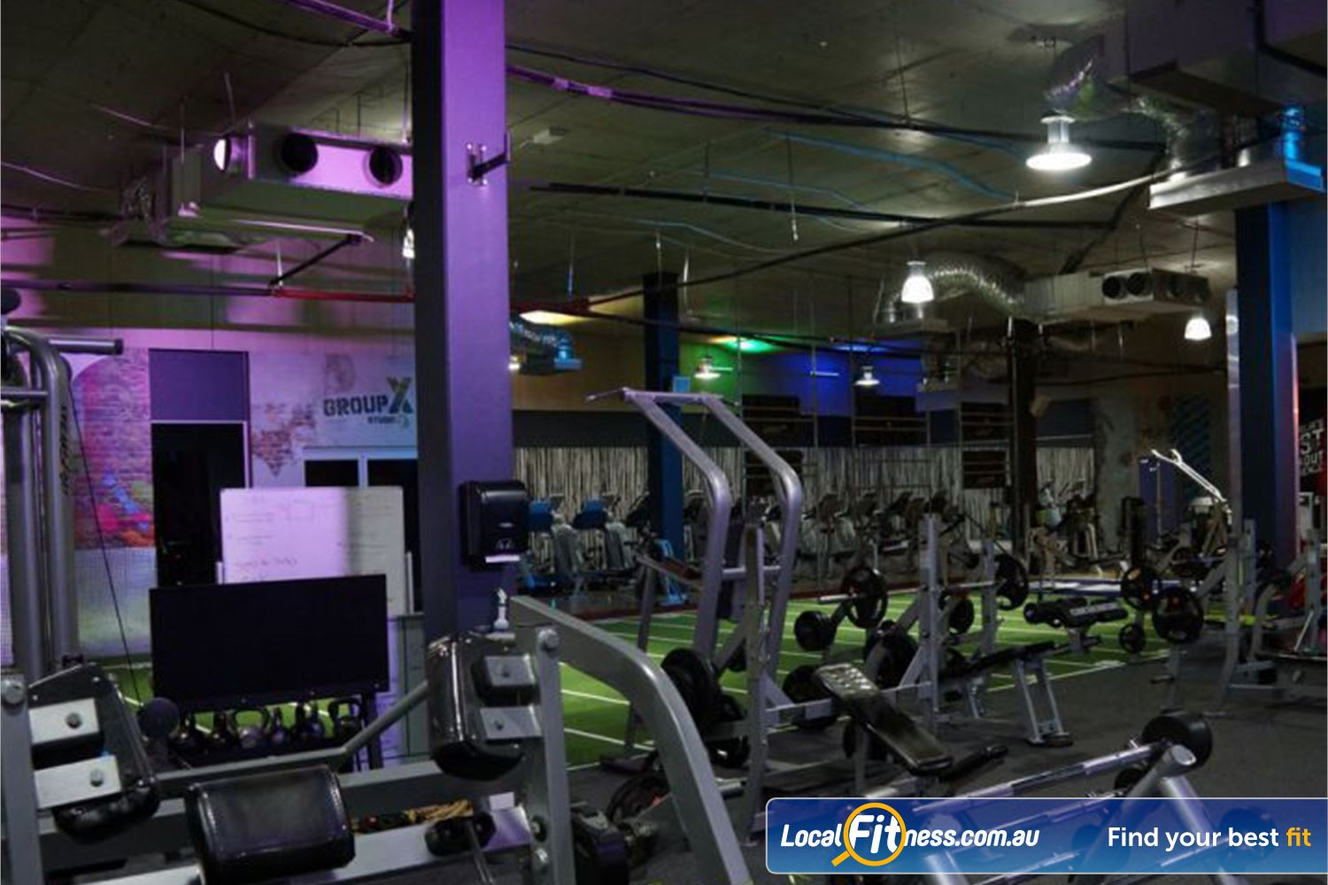 Goodlife Health Clubs Near Mount Warren Park Our free-weights area includes Hammer Strength equipment.