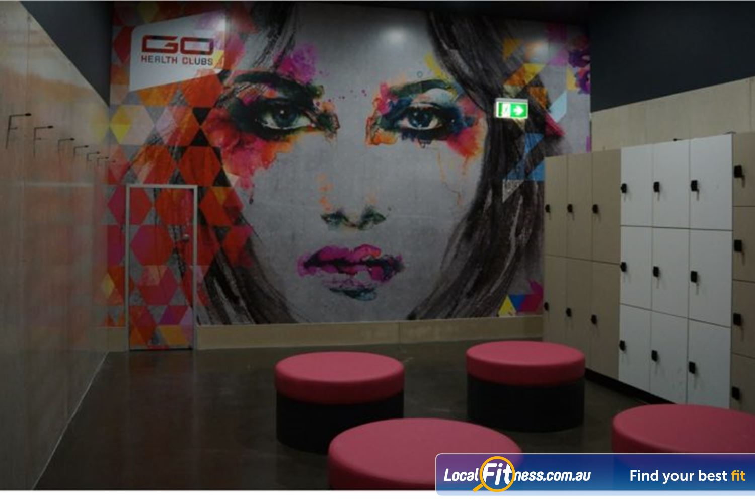 Goodlife Health Clubs Beenleigh Store your belongings in our spacious lockers.