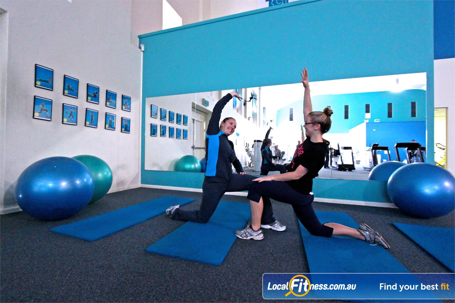 Fernwood Fitness Near Corrimal Fernwood Woonona provides a fully equipped stretching area with fitballs, stretch mats and more.