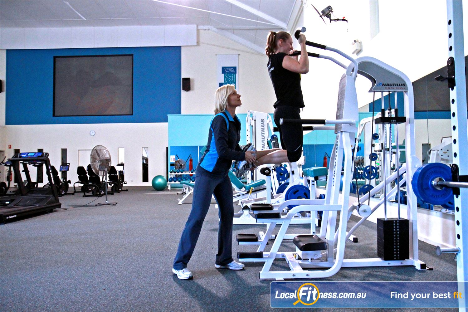 Fernwood Fitness Near Corrimal We have the right Woonona gym equipment to help with women's weight loss and strength.