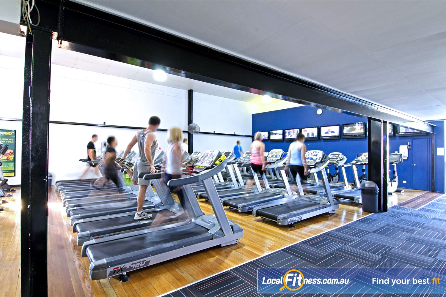 Goodlife Health Clubs Graceville Our Graceville features rows and rows of cardio.