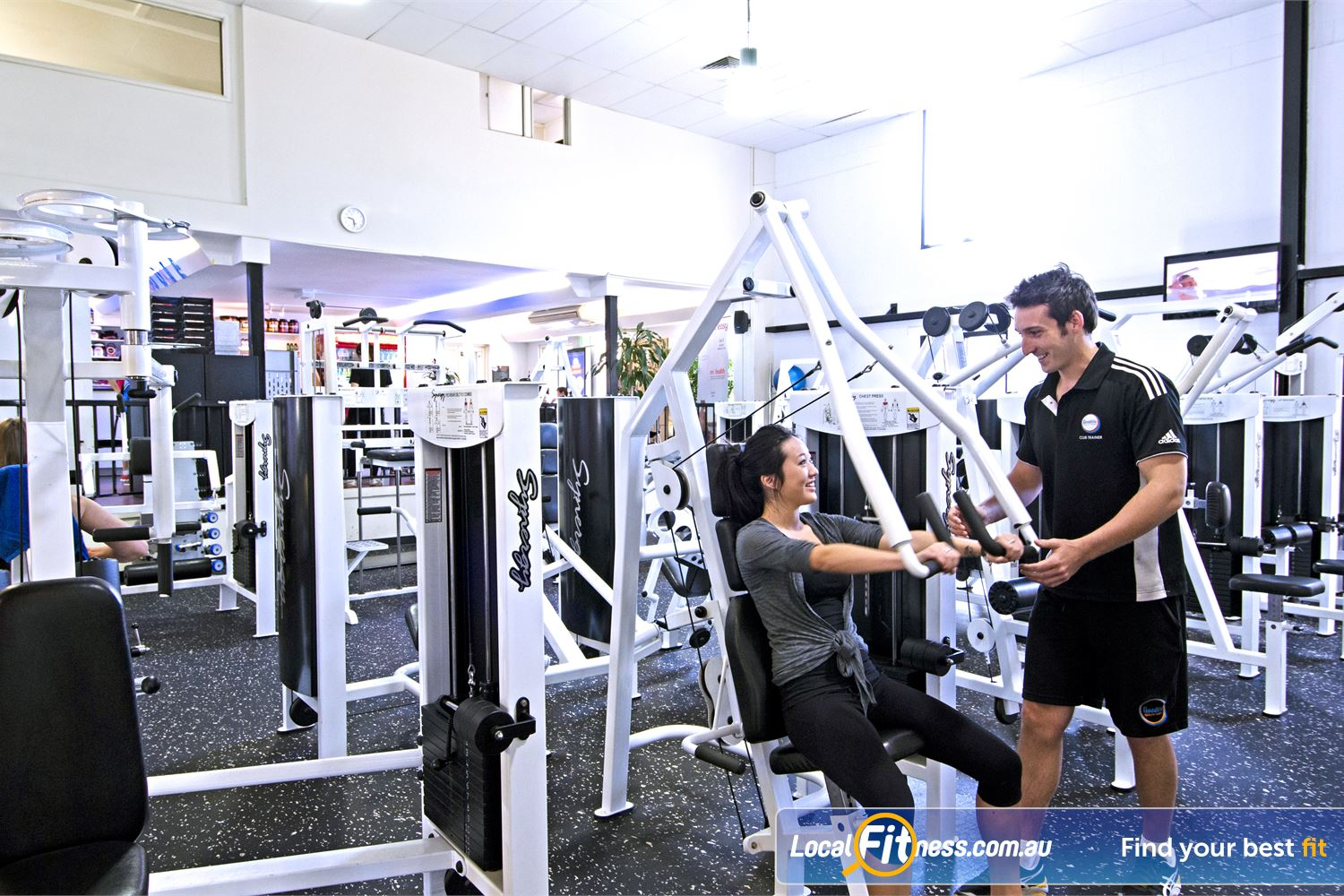 Goodlife Health Clubs Graceville Our team of Graceville gym instructors can help monitor your strength training.