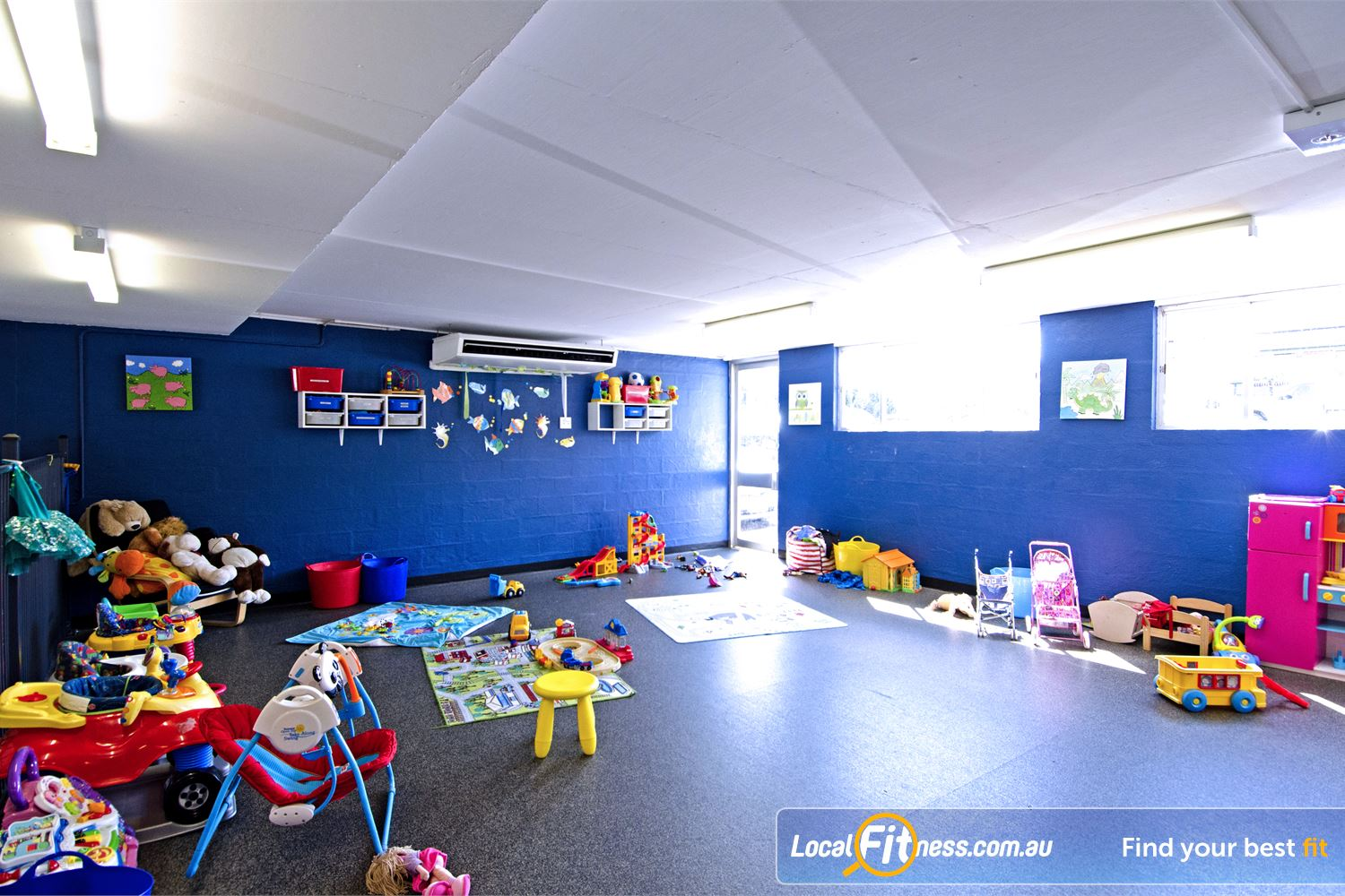 Goodlife Health Clubs Graceville Graceville child minding is part of our family friendly gym environment.
