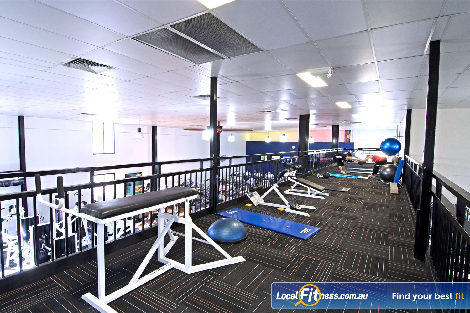Goodlife Health Clubs Graceville Fully equipped and dedicated stretch and abs area.