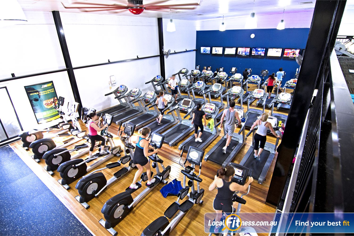 Goodlife Health Clubs Near Sherwood Goodlife Graceville gym provides multiple machines so you don't have to wait.