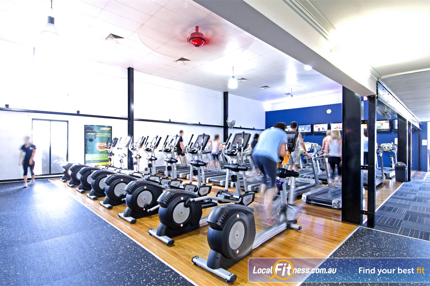 Goodlife Health Clubs Near Tennyson Our Graceville gym features plenty of cardio machines so you won't have to wait.