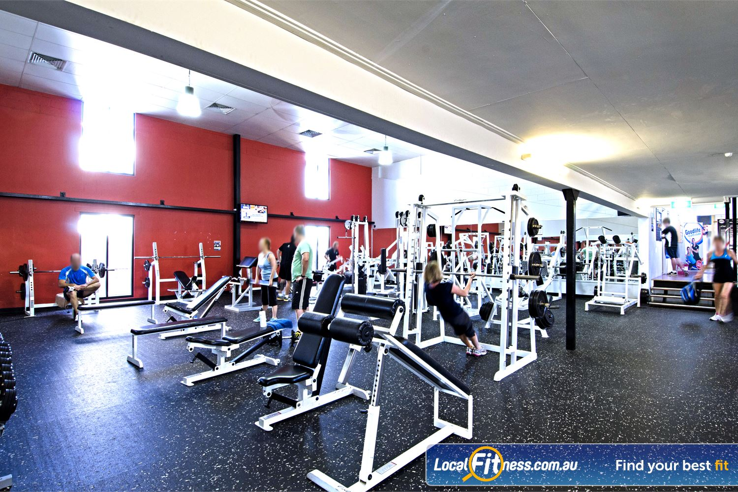 Goodlife Health Clubs Near Tennyson At our Graceville gym, pick from a large selection of free-weights.