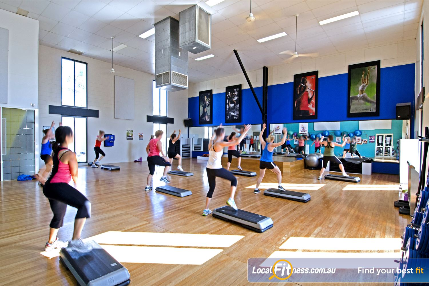 Goodlife Health Clubs Graceville The dedicated and spacious Graceville group fitness studio.