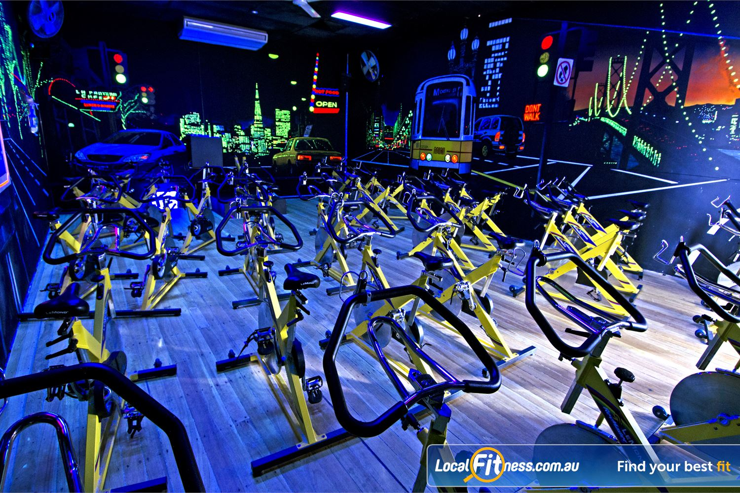 Goodlife Health Clubs Graceville Dedicated Graceville spin cycle studio.
