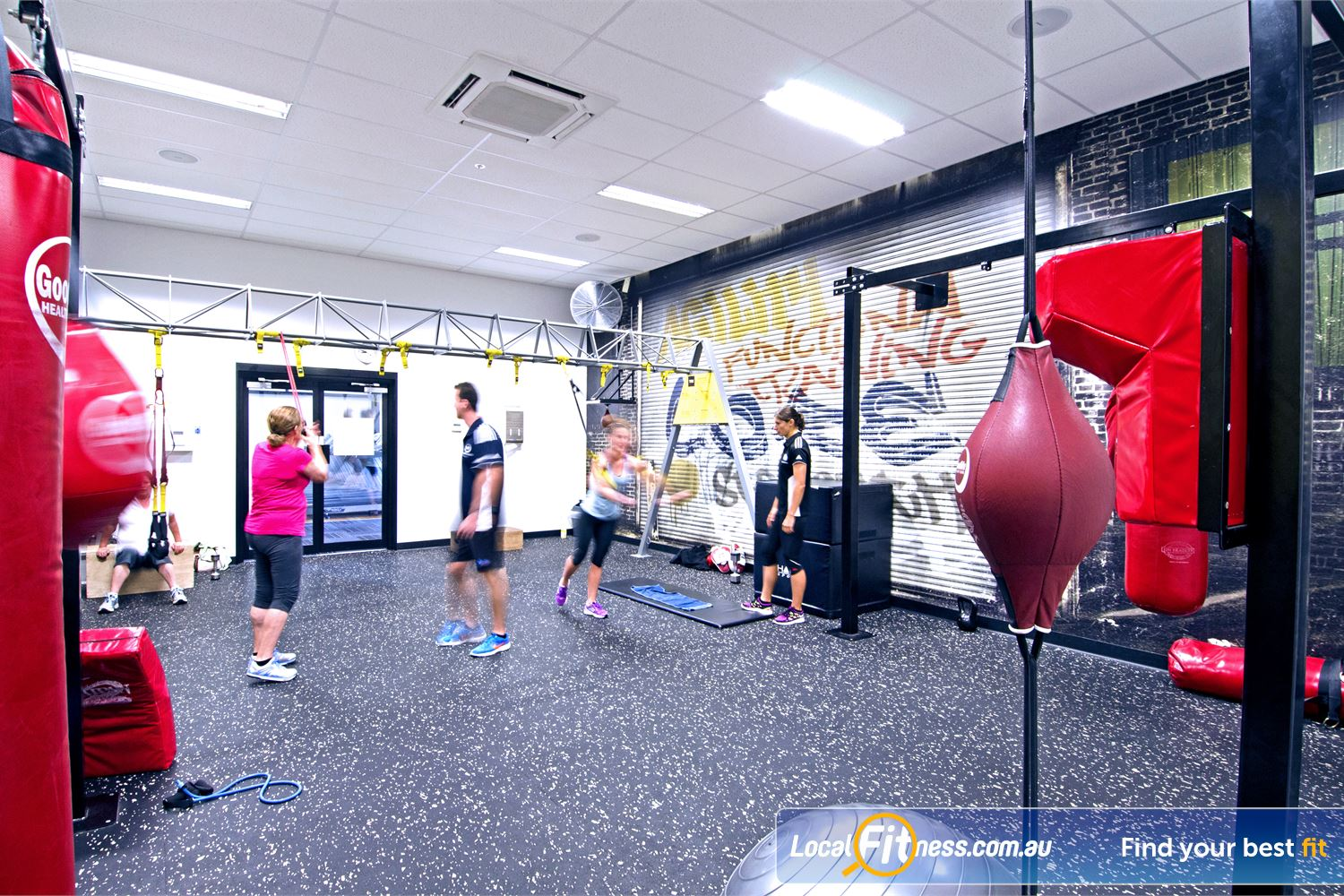 Goodlife Health Clubs Near Sherwood Our functional training area is fully equipped with TRX, boxing, plyboxes and more.