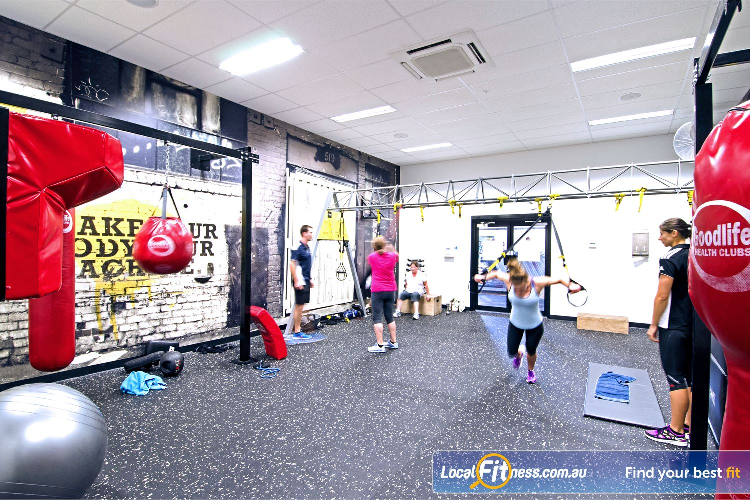 Goodlife Health Clubs Near Tennyson Our team can design a functional workout that challenges you inc. TRX training.
