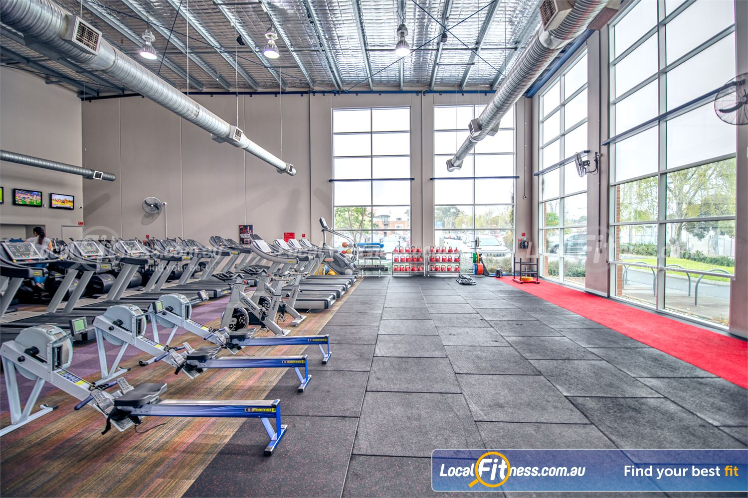 Fitness First Malvern Valley Near Oakleigh Our Malvern Valley gym includes a state of the art cardio area.