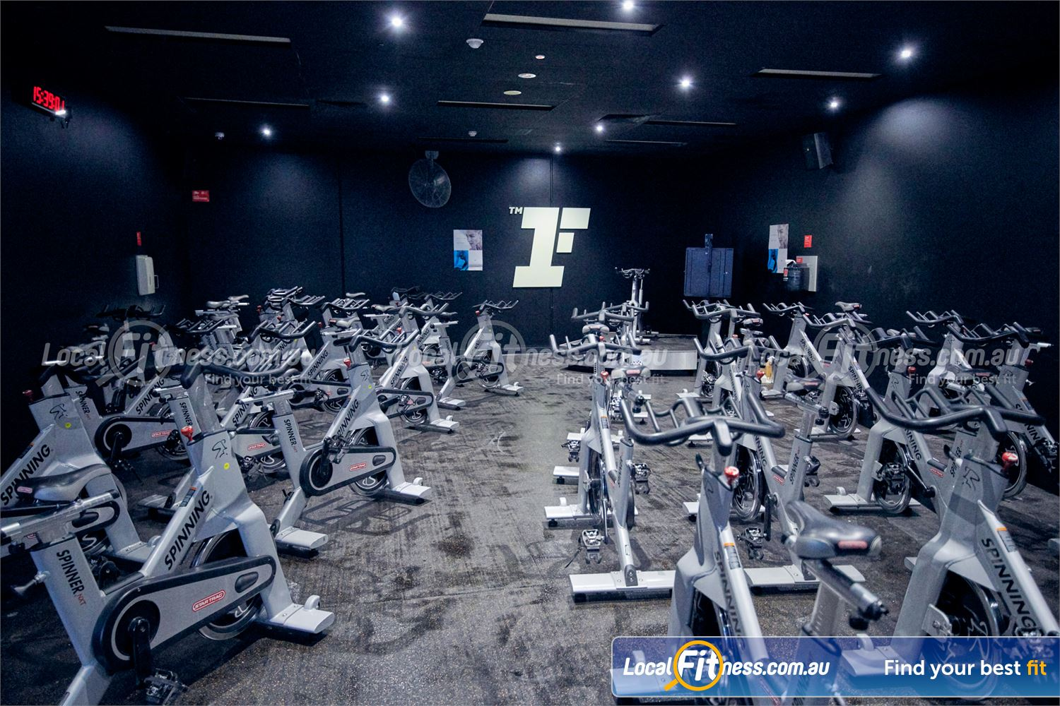 Fitness First Malvern Valley Chadstone The dedicated Chadstone cycle studio at Fitness First.