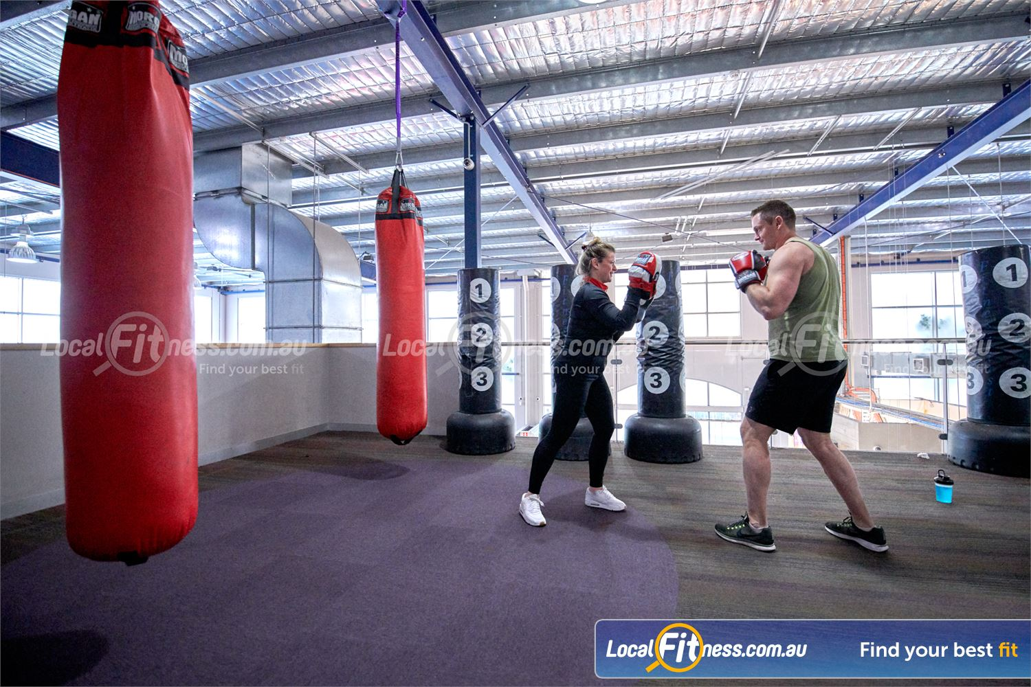 Fitness First Malvern Valley Chadstone Our Chadstone boxing zone includes heavy bags and kimax standing bag.