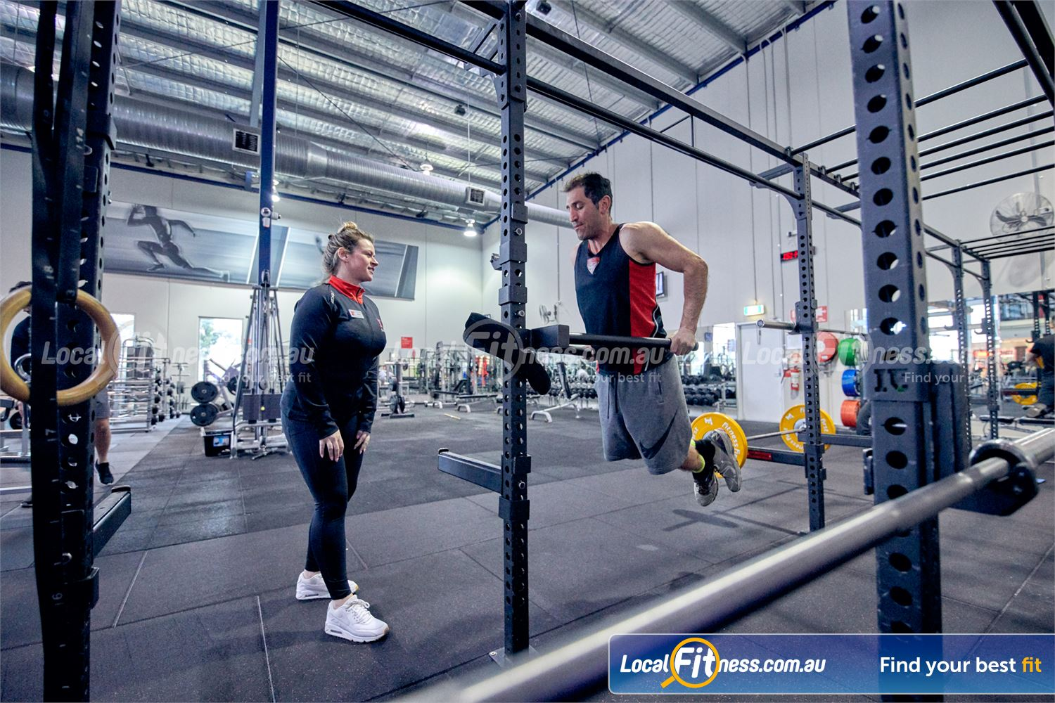 Fitness First Malvern Valley Near Oakleigh Our Chadstone personal trainers can help you with your upper body training.