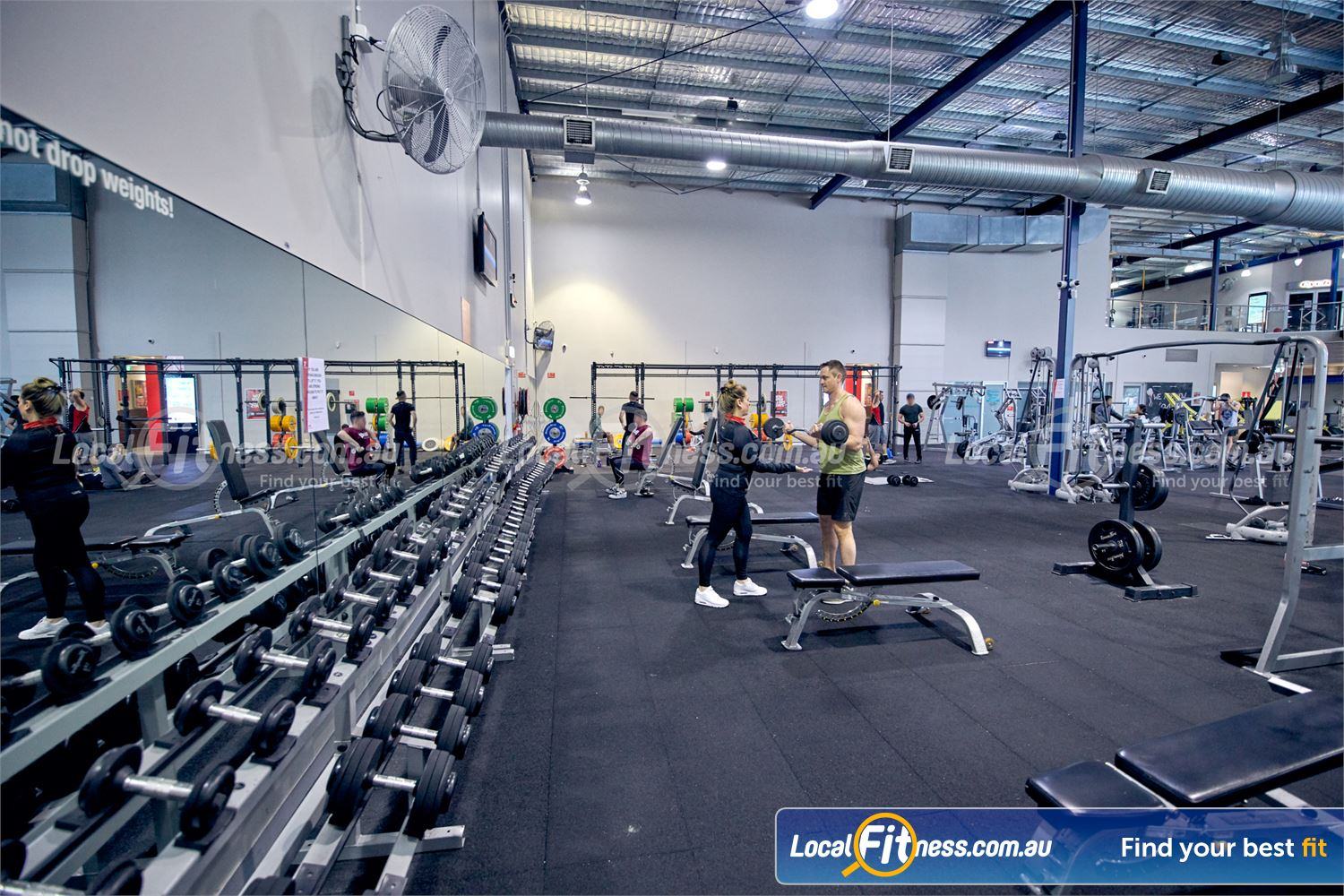 Fitness First Malvern Valley Near Mount Waverley Our Chadstone gym provides a fully equipped free-weights area.