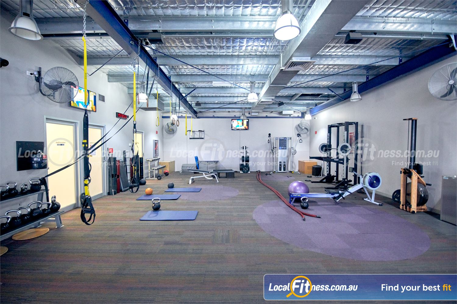 Fitness First Malvern Valley Near Murrumbeena Fully equipped abs and stretching area.