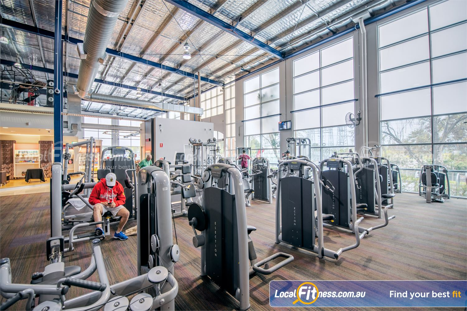 Fitness First Malvern Valley Near Murrumbeena Enjoy natural light with floor-to-ceiling views spanning our Chadstone gym.