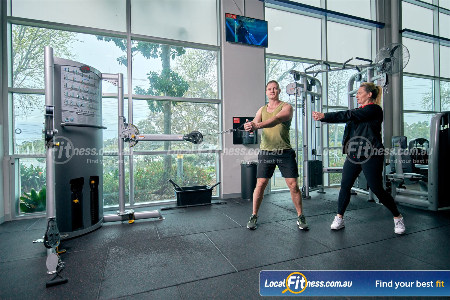 Fitness First Malvern Valley Chadstone The Paramount dual cable Functional Trainer is a great way to work your whole body.