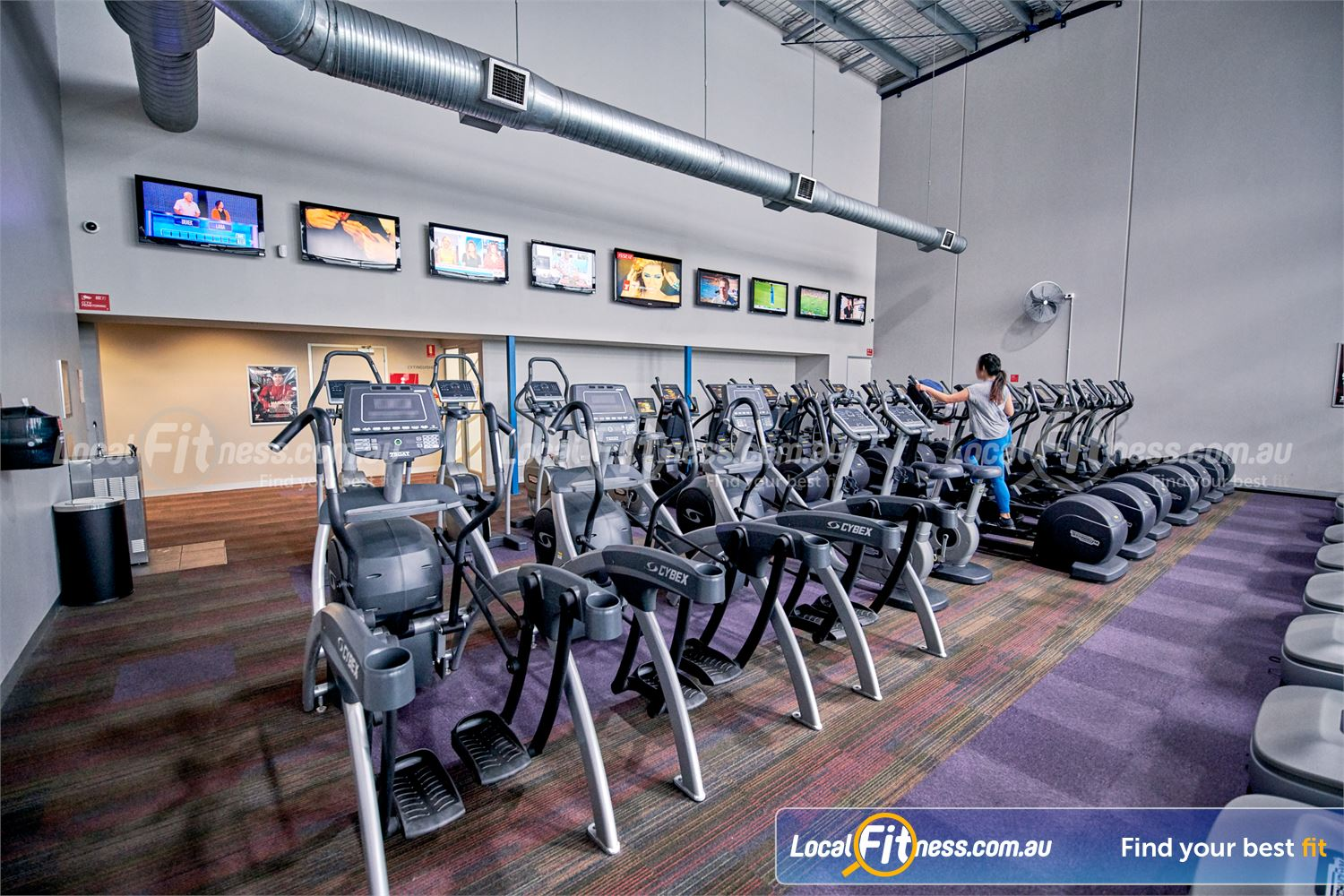 Fitness First Malvern Valley Near Oakleigh The Cybex arc training blends a cross-country skier, elliptical trainer and climber.