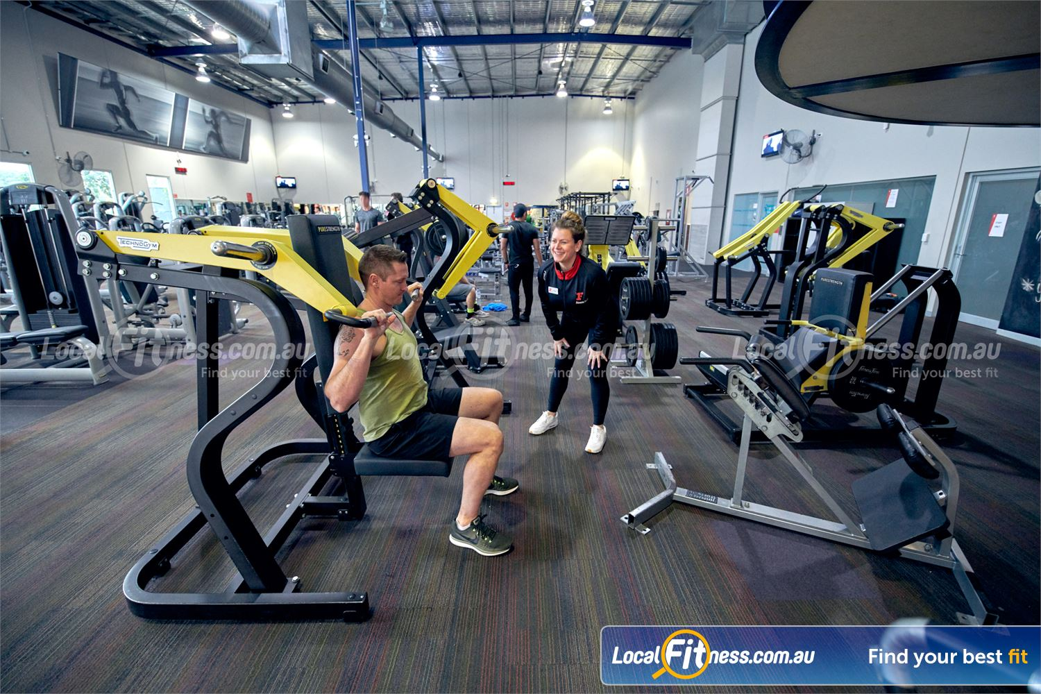 Fitness First Malvern Valley Chadstone State of the art plate-equipment from Technogym Pure.