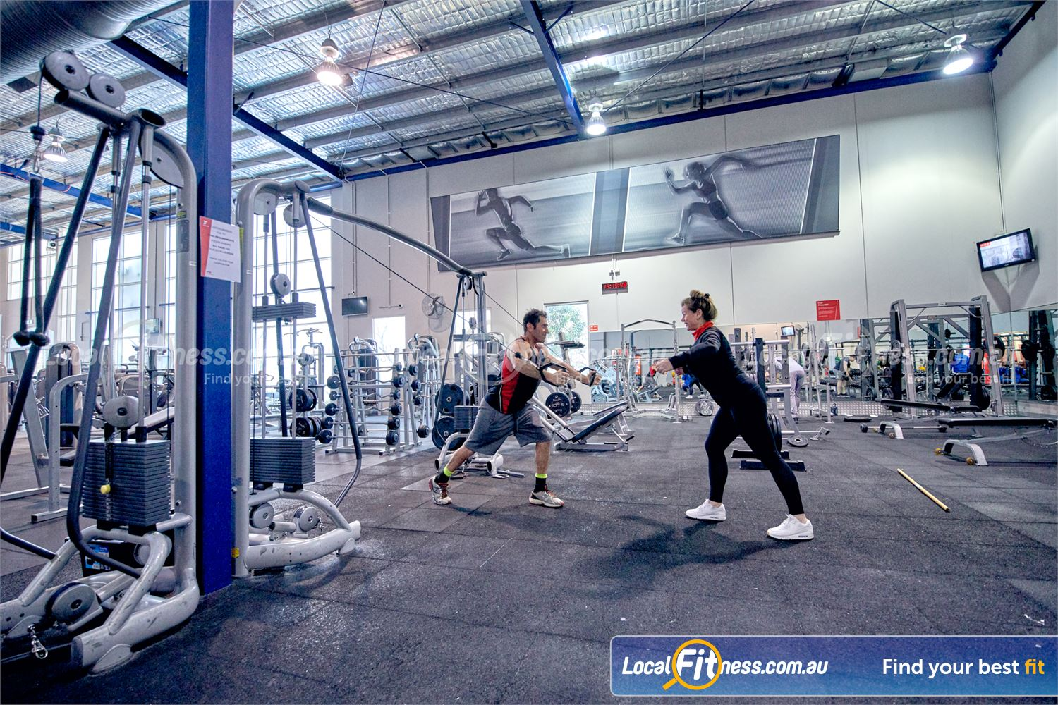 Fitness First Malvern Valley Near Oakleigh State of the art equipment including Technogym cable cross-overs.