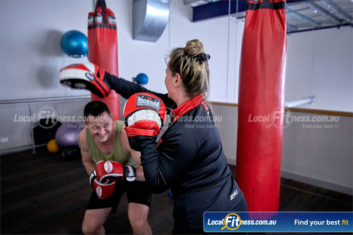 Fitness First Malvern Valley Near Mount Waverley Our Chadstone personal trainers can take you through a fun boxing workout.