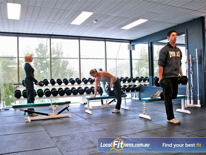 Genesis Fitness Clubs Gym Malvern    Extensive range of free-weights at our Caulfield gym.