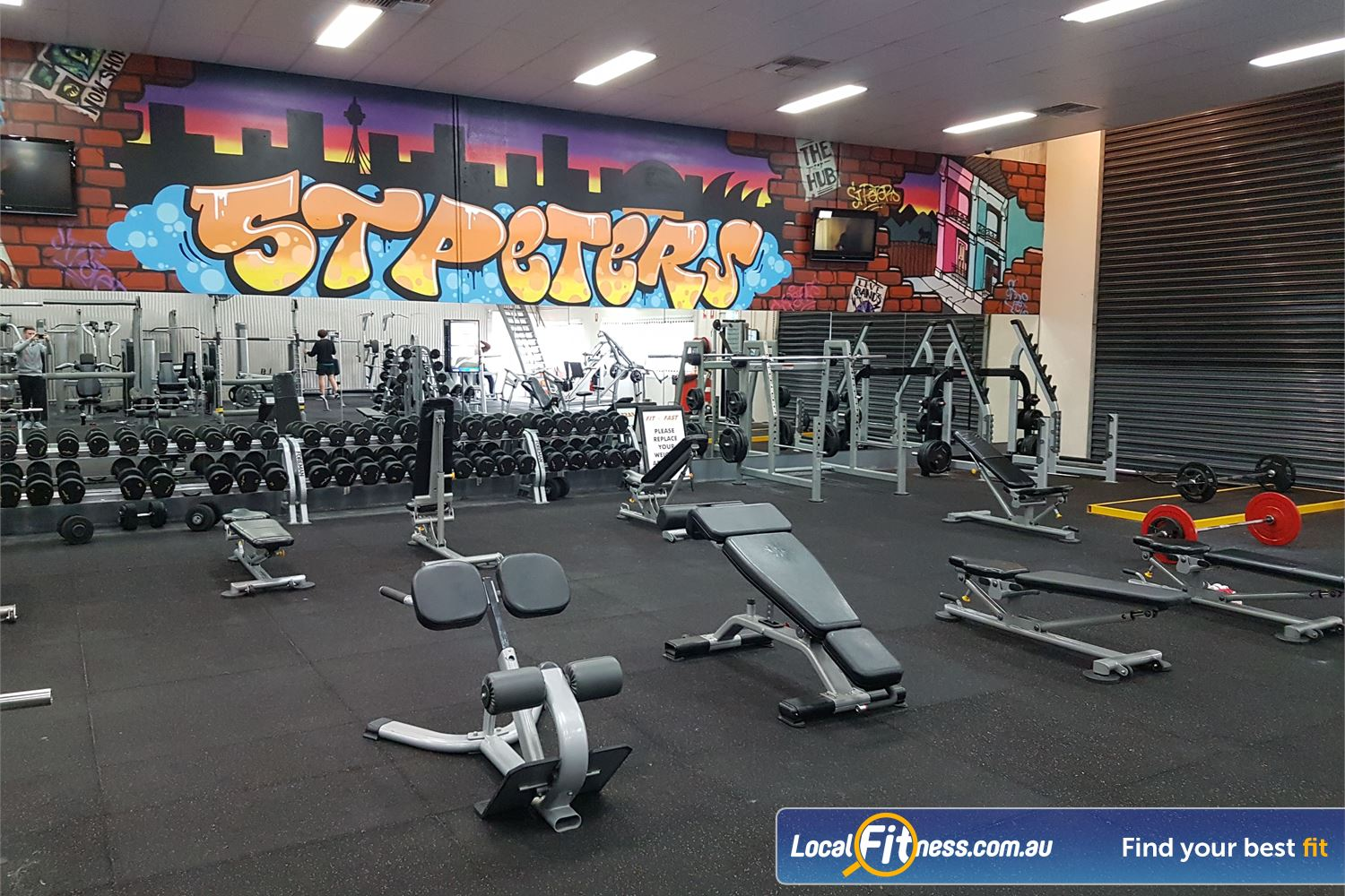 Fit n Fast St Peters Fully equipped free-weights area in our St Peters gym.