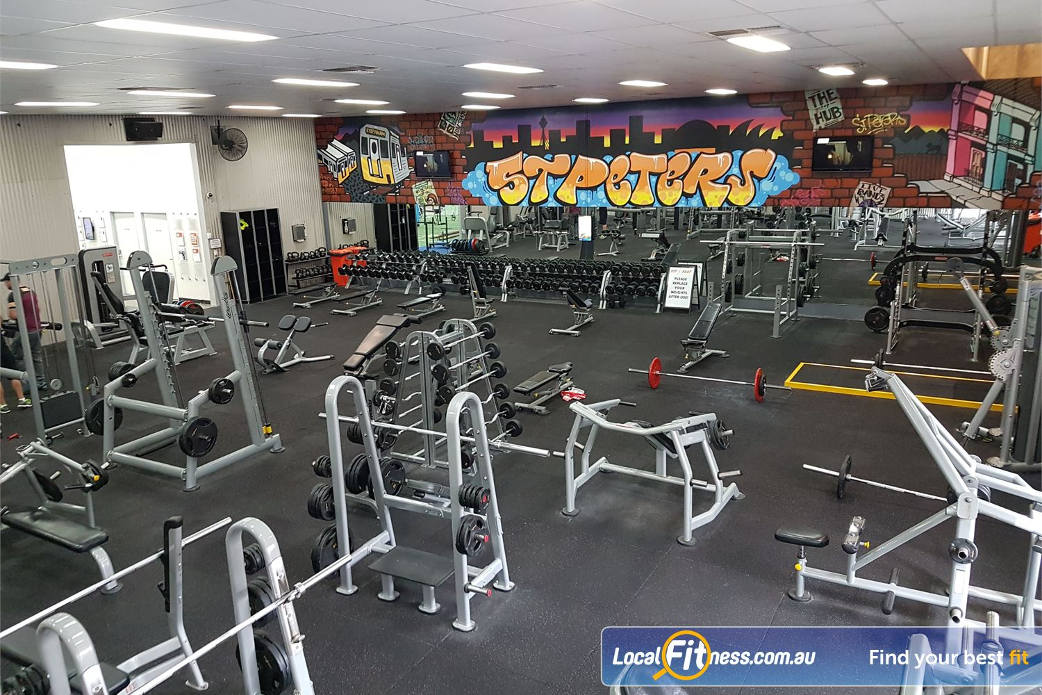 Fit n Fast St Peters Heavy duty plate-loading machines in our free-weights area.
