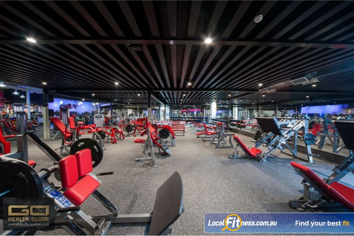 Goodlife Health Clubs Near Chatswood Hills Our Springwood gym is fully equipped for strength training.
