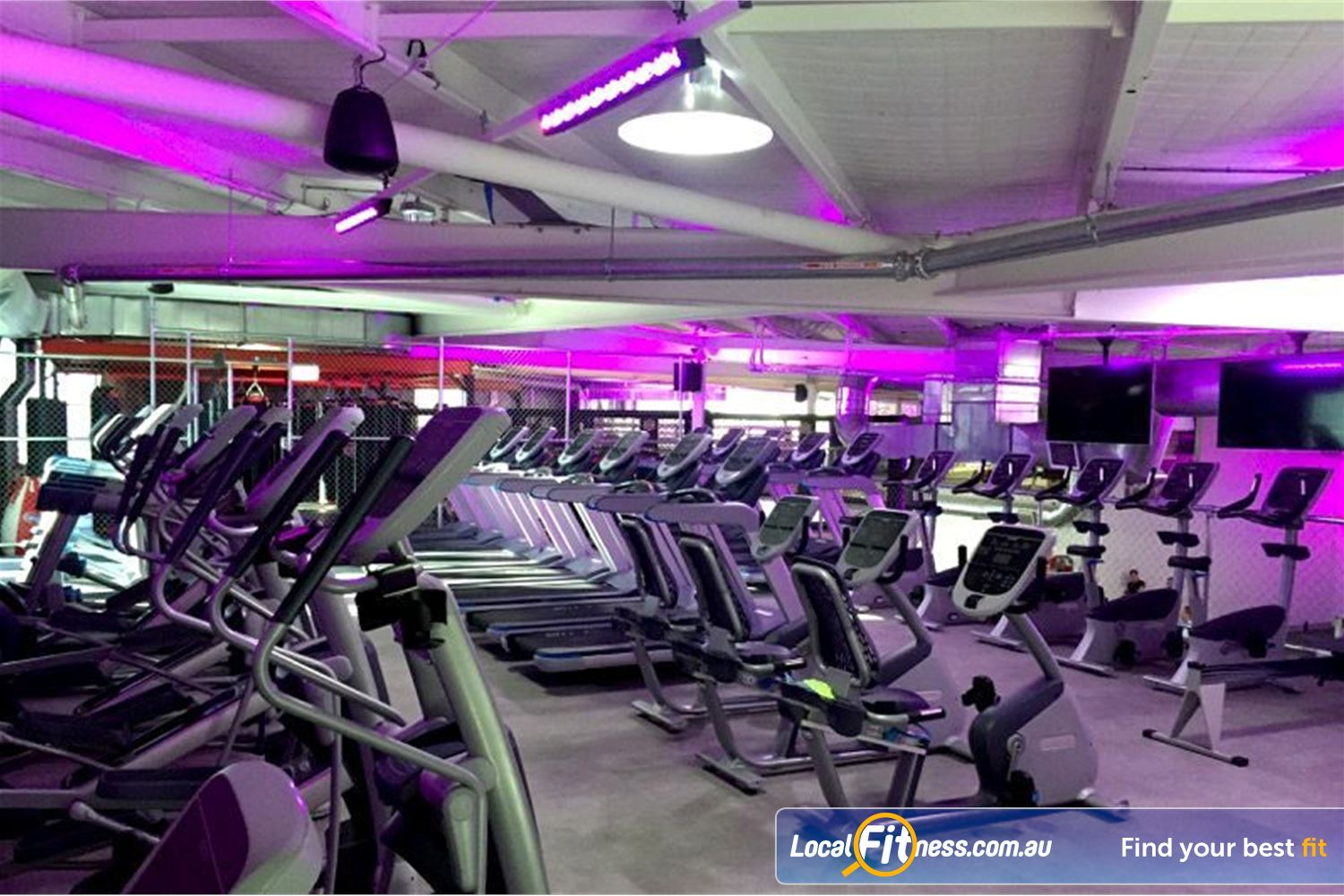 Goodlife Health Clubs Near Meadowbrook State of the art cardio area with level 2 views of our gym.
