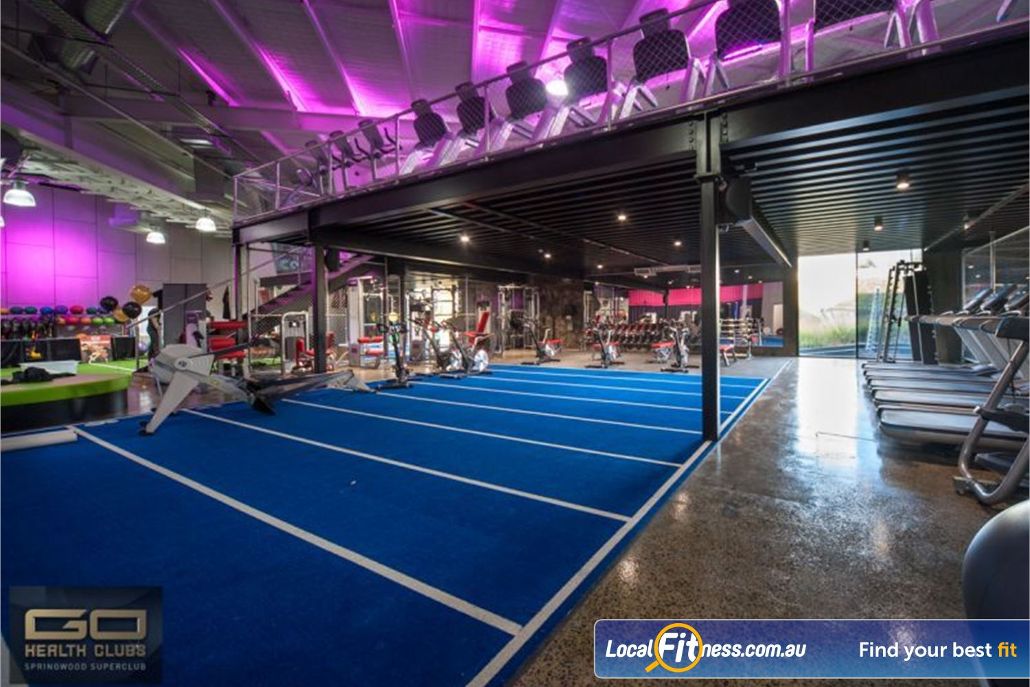 Goodlife Health Clubs Near Meadowbrook The female-friendly and beginners functional HIIT gym area.