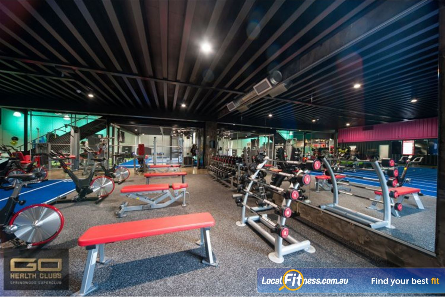Goodlife Health Clubs Near Shailer Park Our free-weights area is equipped with dumbbells, barbells, benches and more.