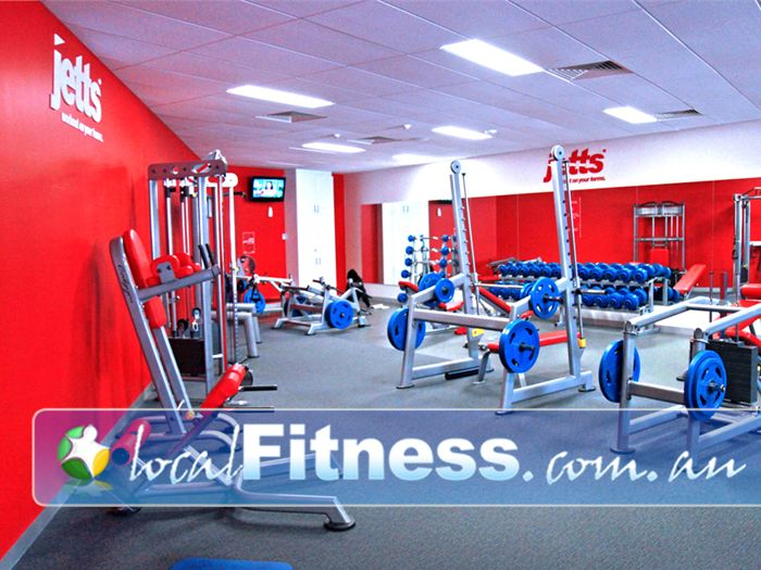 Jetts Fitness Flemington Our Flemington gym features the state of the art Calgym Synergy strength line.