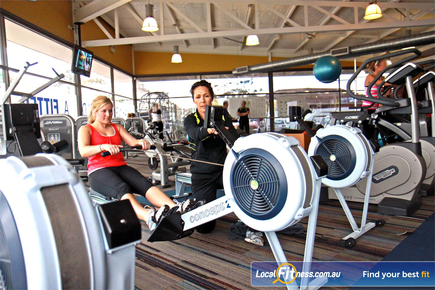 Goodlife Health Clubs Near Mitchell Park Choose your cardio weapon including indoor rowing.