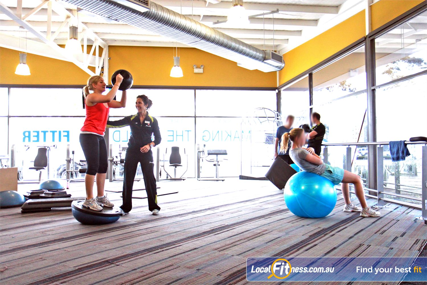 Goodlife Health Clubs Near Oaklands Park Our dedicated abs and stretch area in our Marion gym.