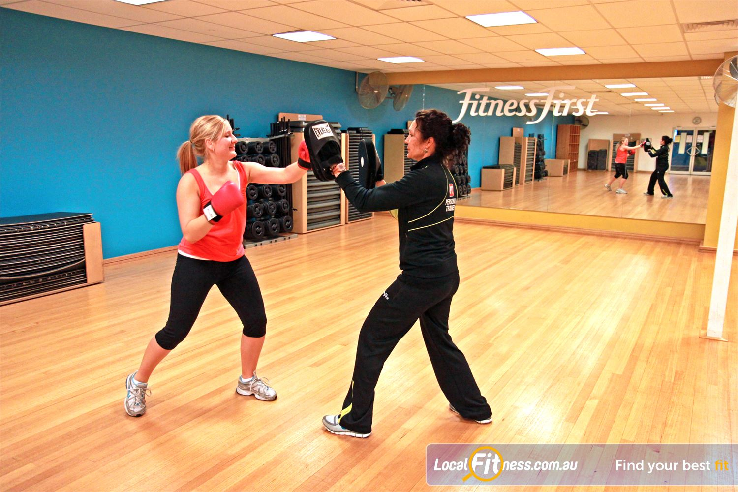 Goodlife Health Clubs Marion Marion personal trainers can vary your workouts to include cardio boxing.