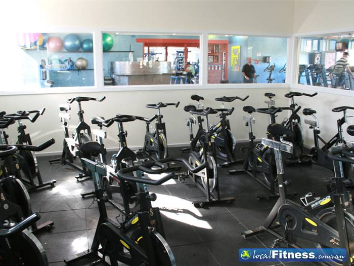 Body World Balaclava Our spin cycle studio at our Balaclava gym.